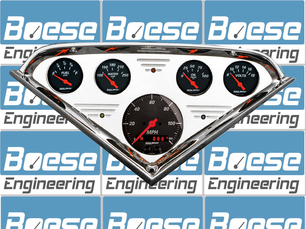1955 56 57 58 59 Chevy Truck Gauge Panel w/ Auto Meter Gauges Designer Black Gauges Primary Photo