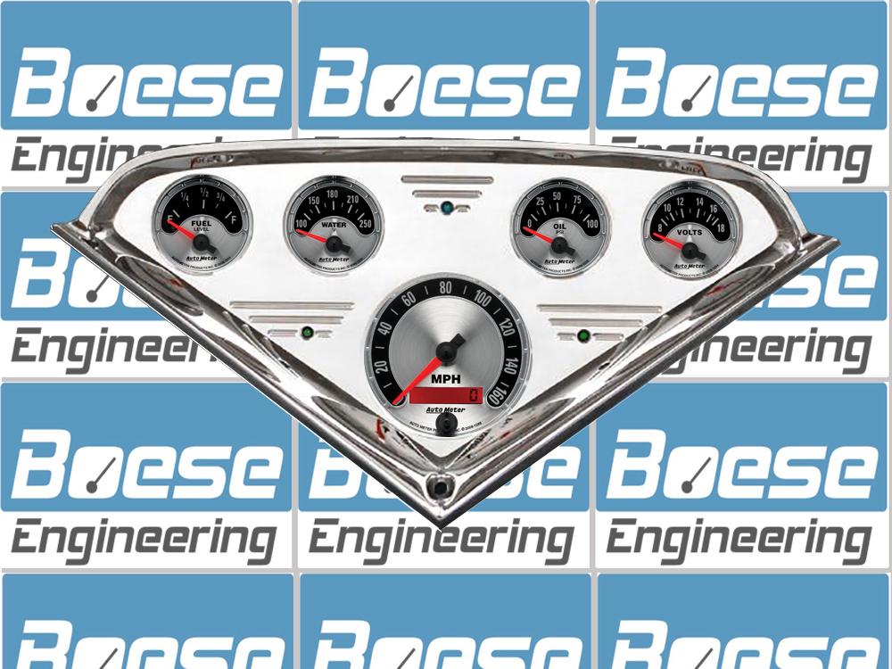 1955 56 57 58 59 Chevy Truck Billet Aluminum Gauge Panel w/ Auto Meter American Muscle Gauges Primary Photo