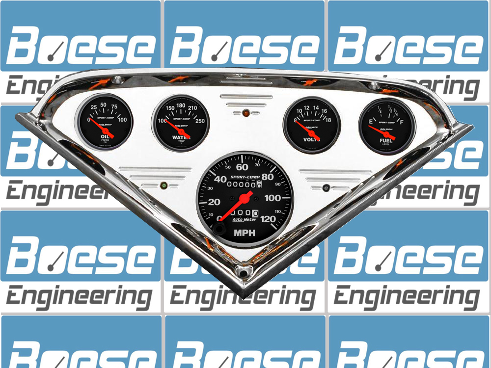 1955 56 57 58 59 Chevy Truck Billet Aluminum Gauge Panel w/ Auto Meter Sport Comp Gauges Primary Photo