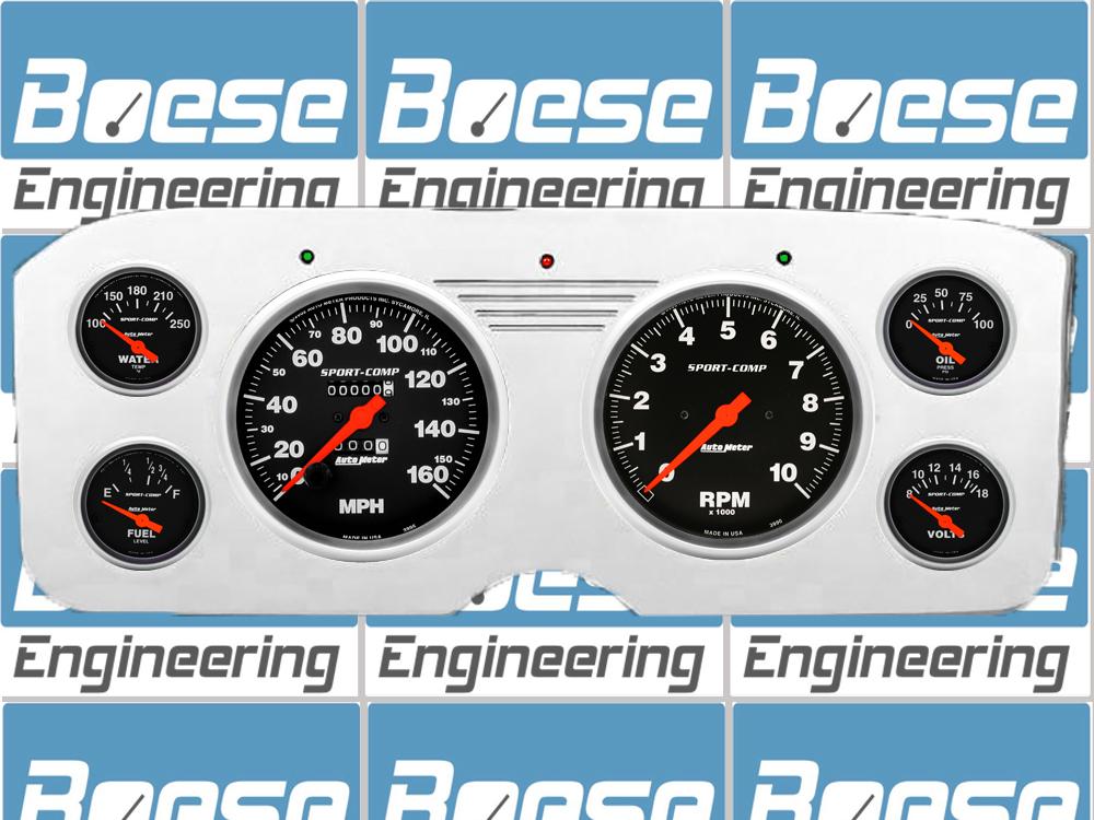 55 56 57 58 59 GMC Truck Billet Aluminum Dash Insert w