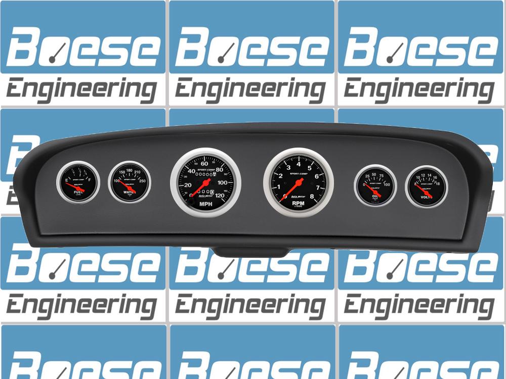 auto meter direct fit 61 66 ford f100 instrument panel with sport comp gauges. Black Bedroom Furniture Sets. Home Design Ideas