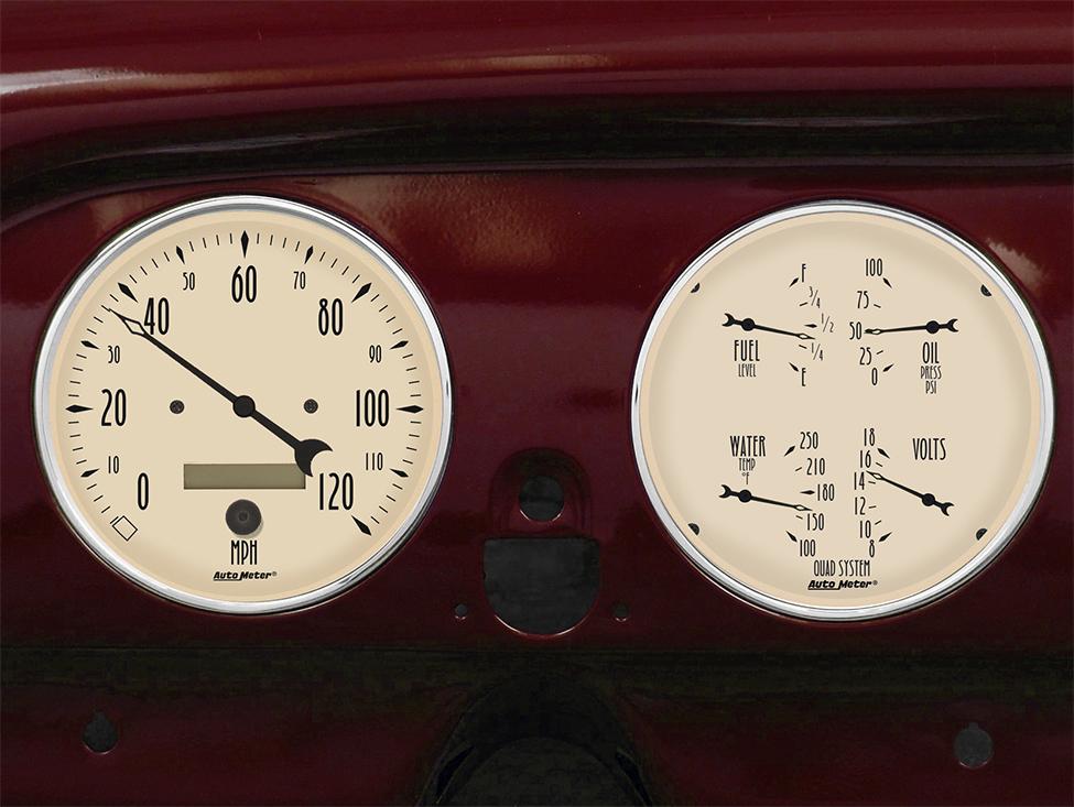 Antique Meter And Gauges : Chevy car billet aluminum gauge panel dash