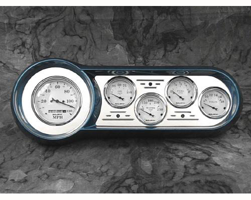 53 54 chevy car billet aluminum dash insert w auto meter gauges. Black Bedroom Furniture Sets. Home Design Ideas
