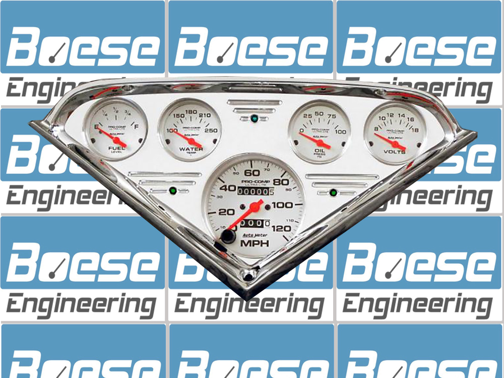 1955 56 57 58 59 Chevy Truck billet aluminum gauge panel w/ Auto Meter Ultra-Lite gauges Primary Photo