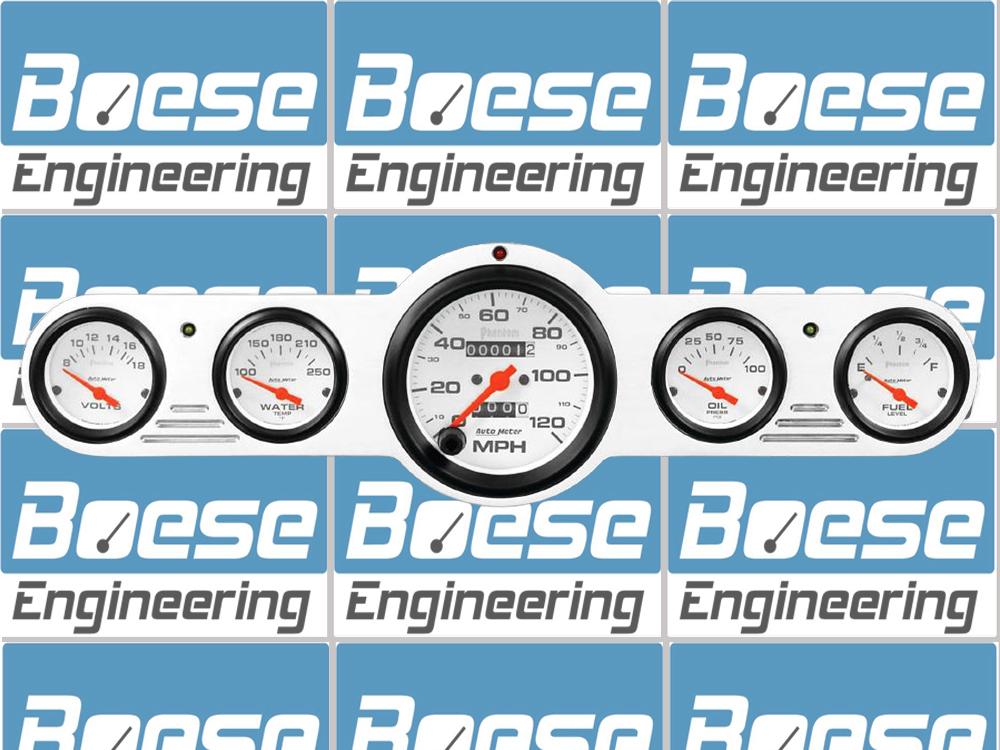 Universal Auto Gauges : Universal gauge street rod dash insert w auto meter