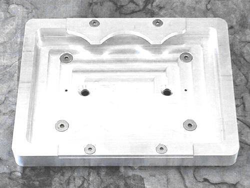 Billet Aluminum Battery Tray for Optima 75/25 series battery (Machine Finish) Primary Photo