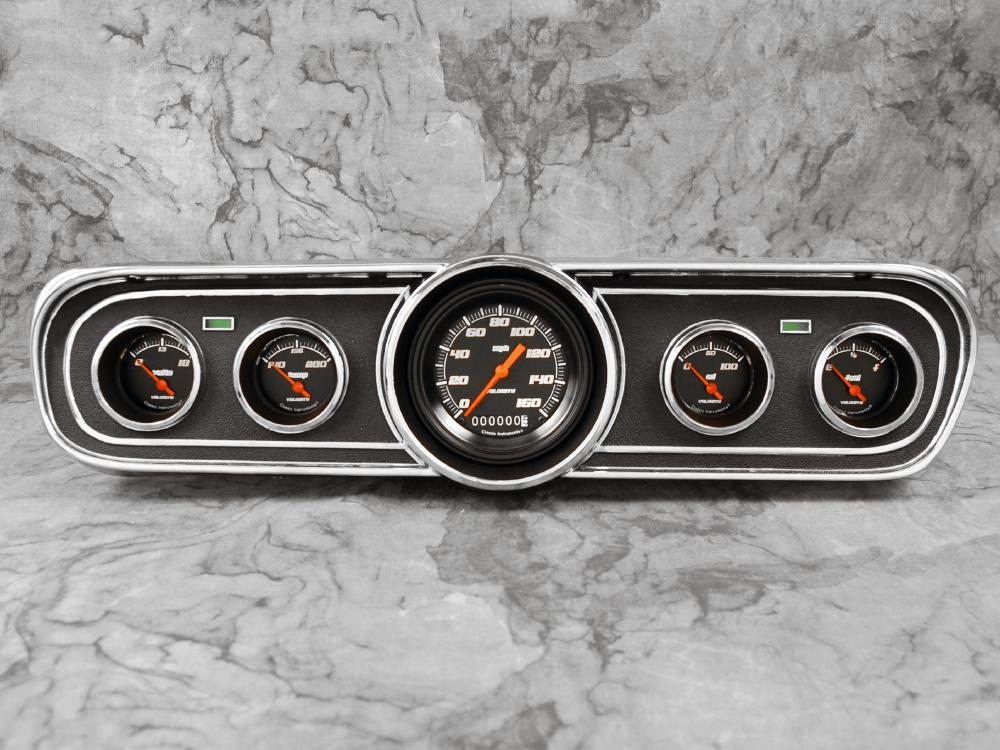 classic instruments 1965 1966 mustang package velocity black instrument cluster ebay. Black Bedroom Furniture Sets. Home Design Ideas