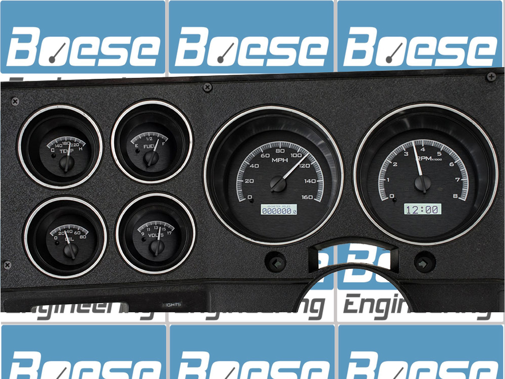 73 74 75 76 77 78 79 80 81 82 83 84 85 86 87 Chevy / GMC Pickup Dakota Digital VHX Instruments - Black Alloy - White Lighting Primary Photo