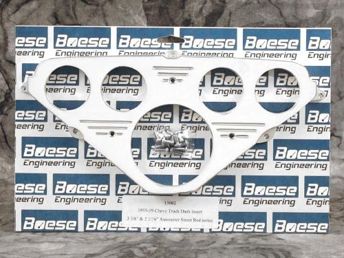 55 56 57 58 59 Chevy Truck Billet Aluminum Dash Insert for Auto Meter Street Rod series gauges (3 3/8