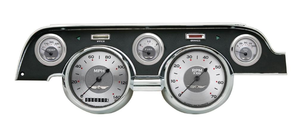 Classic Instruments 67-68 Ford Mustang Gauges Cluster w/ Black Dash